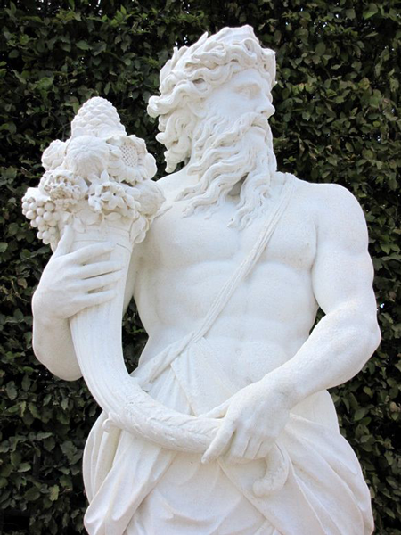 statue acheloos corne d'abondance