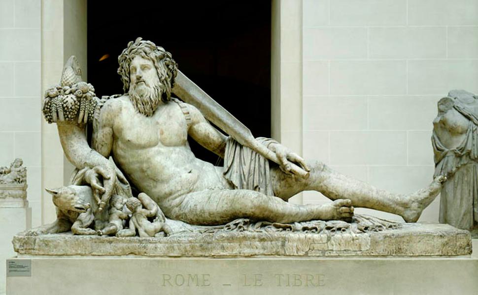 le tibre statue