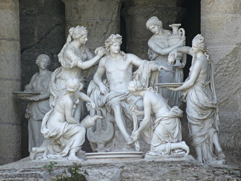 Apollon et 5 nymphes